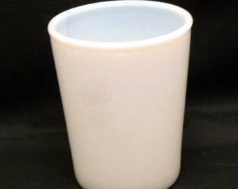 Vintage Semi-Opaque Milk Glass Tumbler, 1940s