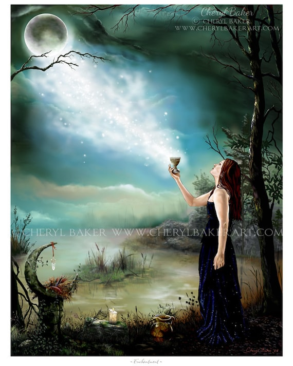 Wicca Art Print Wicca Wiccan Wiccan Art Pagan Art