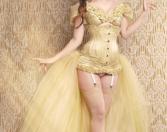 Custom Made Belle (Beauty and the Beast) Corset Costume