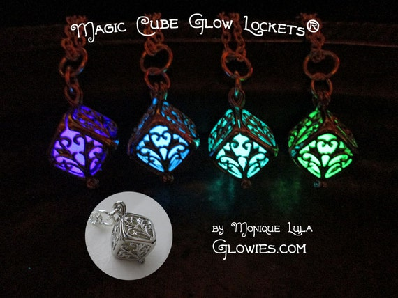 Magic Cube Glow Locket Necklace