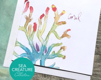 Coral Art Card - Sea Creature Collection