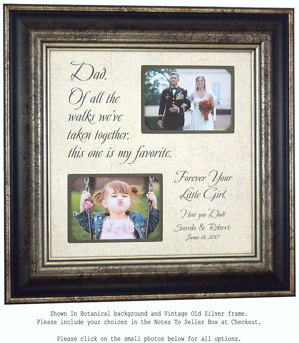 Father Of The Bride Gift Wedding Picture Frame Dad Daddy