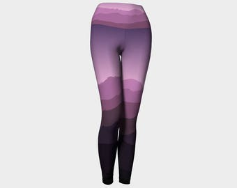 Purple Mountains Yoga Leggings