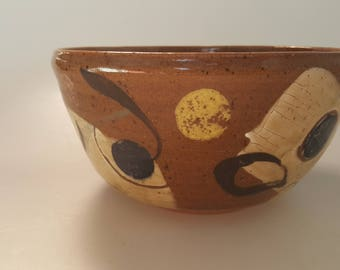Pottery Bowl, Ceramic Bowl, Stoneware Bowl, Whimsical Bowl, Cereal Bowl, Handmade Pottery, Serving Bowl, Pottery, Rustic Bowl, Wheel Thrown