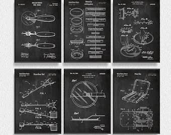 Pizza Patents Set of 6 Prints, Kitchen Wall Decor, Kitchen Wall Art, Restaurant Decor, Dining Room Wall Decor, Pizza Party Decorations