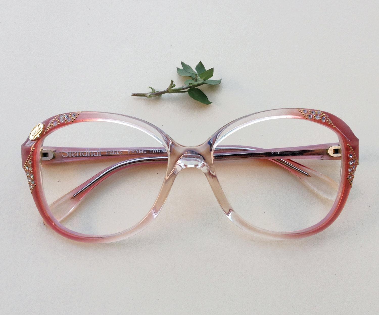 80s gafas de diamantes de imitación / Vintage gafas de sol de