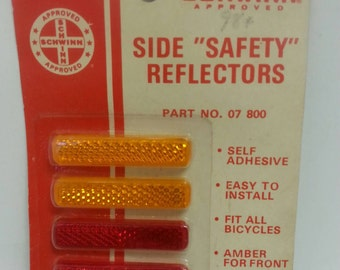 Free Shipping!! Schwinn Bicycle Side Safety Reflectors Part No. 07800 NOS