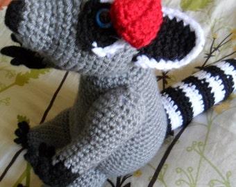 Raccoon Amigurumi Plush - Raccoon Amigurumi Plushie - Raccoon Stuffed Animal - Raccoon Softie - Raccoon Doll - Raccoon Amigurumi