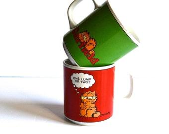 Vintage Garfield Mugs Set of Two
