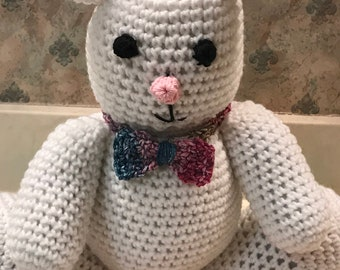 Hand Crocheted Spring Bunny