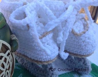Instant Download - Figure Skates Crochet Pattern
