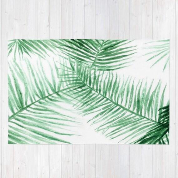 Modern Leaves Rug: Palm Leaf Area Rug Palm Leaves Rug Palm Leaf Rug Modern