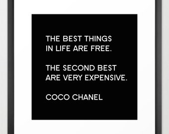 Chanel Print or Canvas, Fashion Wall Art, Coco Chanel Quote, Girls Wall Decor, Teen Room Decor, 10x10 12x12 16x16 20x20 24x24, Gift for Her