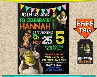 EDITABLE Shrek Invitations, Shrek Birthday, Shrek Party, Shrek Birthday Invitation, Shrek Printable Invitations