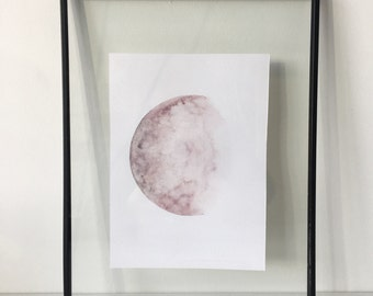Purple Half Moon Print