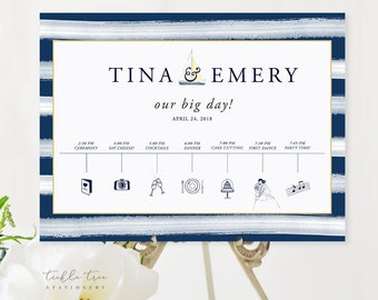 Order of Events/Our Big Day Poster - Marina Bay (Style 13795)