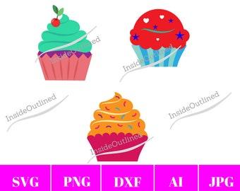 Cupcake SVG File, Cupcake Vector, Cupcake Svg for Cricut, Cupcake SVG Cut File, Svg Vector File, SVG File for Cricut, Birthday Svg, Cupcake