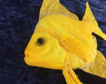 Fake Yellow Orange Fish Craft Fish Cake Topper Wedding Decor Craft Embellishments Centerpiece Craft Supplies