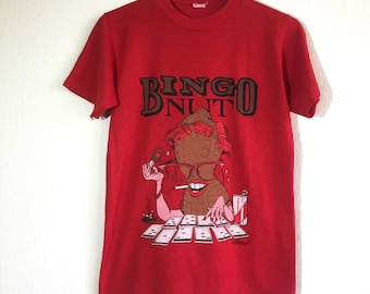 1980s Bingo Nut vintage t-shirt // cartoon tee
