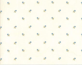 Ann's Arbor - Buds Natural Blue by Minick & Simpson for Moda, 1/2 yard, 14845 23