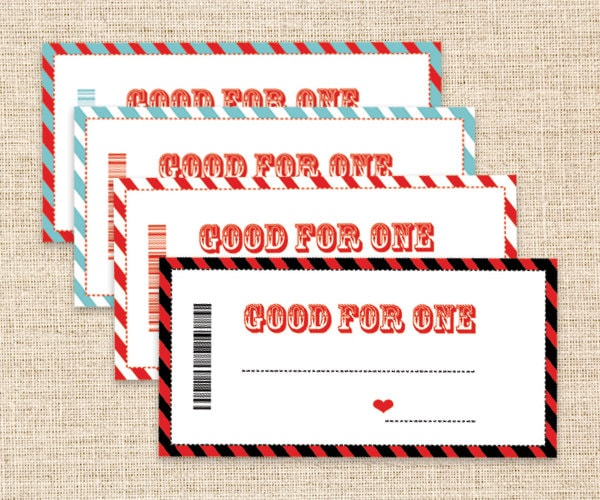 🔎zoom  Birthday Coupon Templates Free Printable