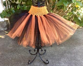Orange and black tutu, halloween tutu, fall tutu, costume tutu, infant tutu, girls tutu, toddler tutu, baby tutu, halloween costume,