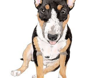 Custom Pet Portrait. Memorial Pet Portraits. Dog Portrait. Wall Decor. Dog poster. Dog Lover. Dog Art. Pet portrait. Custom pet print.