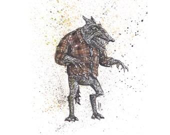 "Werewolf ""364!"" 8.5x11 Signed Print"