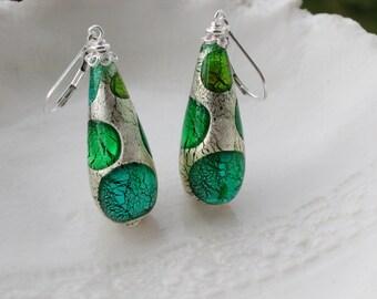 Teardrop Murano Glass Earrings