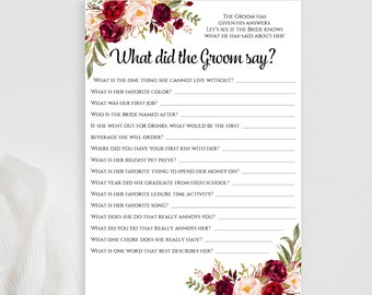 Would she rather editable pdf game template printable floral what did the groom say editable game printable personalized bridal shower games download pdf template 5x7 solutioingenieria Gallery