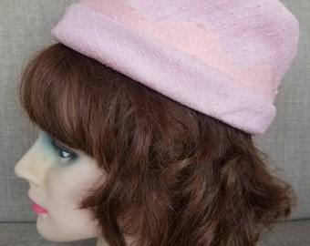 Vintage Women's Pink Pillbox Hat