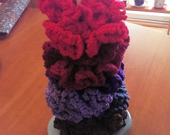 Hand Knit Pony Tail Holders - CUTE!!!