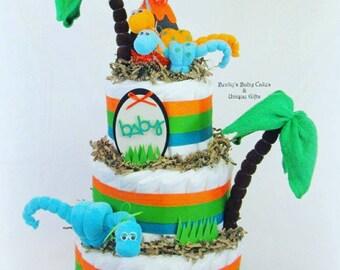 Dinosaur Baby Shower Dinosaur Diaper Cake Dinosaur Party