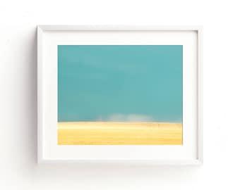 """landscape wall art, minimalist landscape, landscape art prints, landscape photography, large art, large wall art, art prints - """"Blue Heaven"""""""
