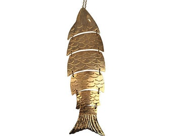 Gold Tone Fish Necklace