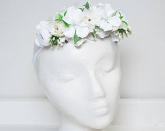 White Childs flower crown