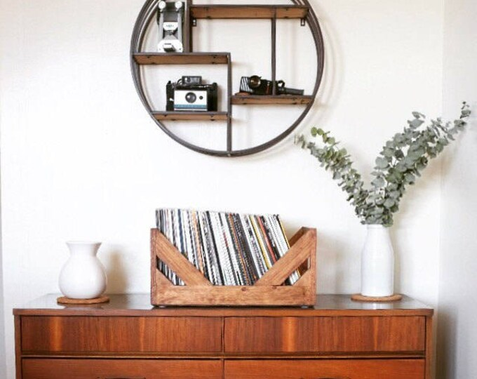 """12"""" Vinyl Record Storage - A stylish Alternative to milk Crates!  Hand Made and specially designed for storing your collection of 12"""" Vinyl."""