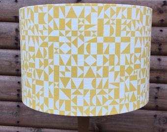 Mustard Yellow Geometric  Lampshade