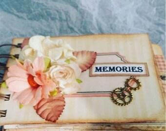 Lovely scrapbook handmade mini album/journal