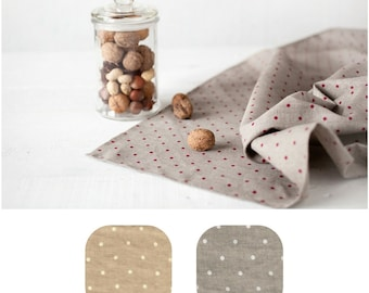 Linen tableclothes - Polka dot tablecloth - Gray tablecloth - Linen polka dot tablecloth - Gray polka dot tablecloth - Christmas tablecloth