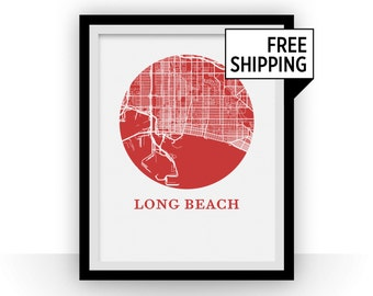 Long Beach Map Print - City Map Poster