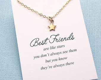 Best Friend Gift | Star Necklace, Friendship Necklace, Best Friend Necklace, Friends Friendship Gift, Best Friend Birthday Gift, Sister |F08