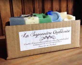 Sélection pour hommes de 5 savons artisanaux faits main 100% naturels, Men Selection of 5 Cold process All Natural Handmade Soaps
