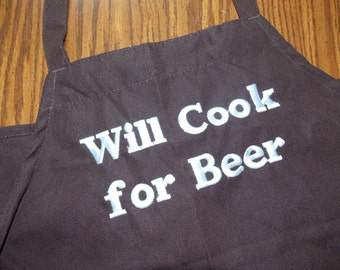 Monogrammed Apron Personalized Apron Full Apron Gag Gift Bachelor Gift Guy Gift Beer Apron Grill Apron Boyfriend Gift for Him Wedding Gift