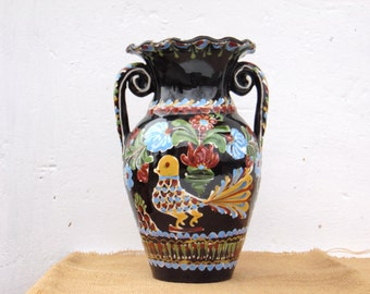 Vintage Hand Painted Ceramic Vase - Made in Germany