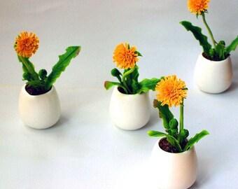 dandelion centerpiece, room flower decore, dandelion gift, flower gift, housewarming gift, dandelion arrangement, gift memory, artificial