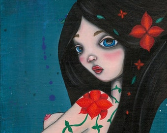 Spring Maiden Original Art Giclee fine art print 8x8