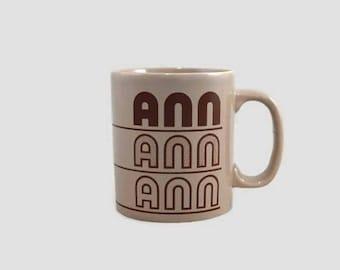 Mug Vintage «Ann» nom four artisanat Angleterre