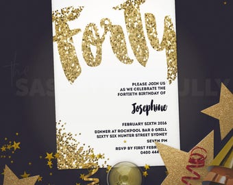 Shine Bright Personalised Birthday Invitation
