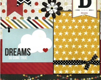 Dreams Do Come True - Premade Scrapbook Page